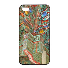 Traditional Korean Painted Paterns Apple Iphone 4/4s Seamless Case (black) by Onesevenart