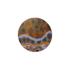 Aboriginal Traditional Pattern Golf Ball Marker (10 Pack) by Onesevenart