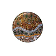 Aboriginal Traditional Pattern Hat Clip Ball Marker (4 Pack) by Onesevenart