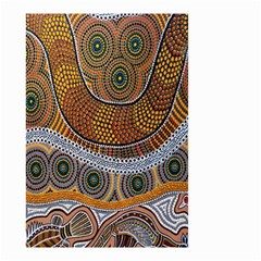 Aboriginal Traditional Pattern Small Garden Flag (two Sides) by Onesevenart