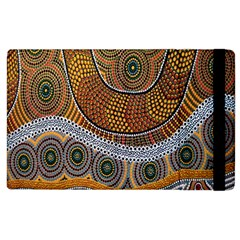 Aboriginal Traditional Pattern Apple Ipad 2 Flip Case by Onesevenart