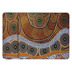 Aboriginal Traditional Pattern Samsung Galaxy Tab 8 9  P7300 Flip Case by Onesevenart