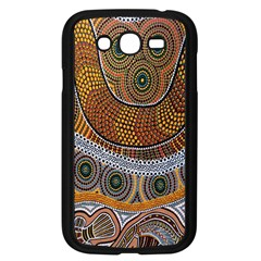 Aboriginal Traditional Pattern Samsung Galaxy Grand Duos I9082 Case (black) by Onesevenart
