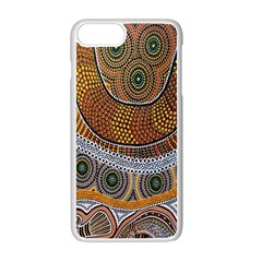 Aboriginal Traditional Pattern Apple Iphone 7 Plus White Seamless Case by Onesevenart