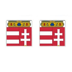 Coat Of Arms Of Hungary Cufflinks (square) by abbeyz71
