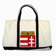 Coat Of Arms Of Hungary Two Tone Tote Bag by abbeyz71