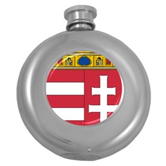Coat Of Arms Of Hungary Round Hip Flask (5 Oz) by abbeyz71