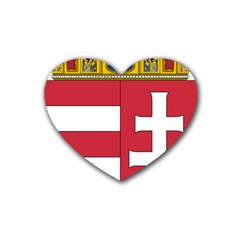 Coat Of Arms Of Hungary Heart Coaster (4 Pack)  by abbeyz71
