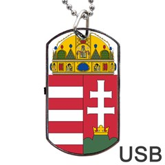 Coat Of Arms Of Hungary Dog Tag Usb Flash (two Sides) by abbeyz71