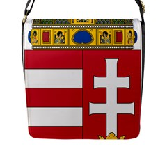 Coat Of Arms Of Hungary Flap Messenger Bag (l)  by abbeyz71