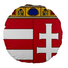 Coat Of Arms Of Hungary  Large 18  Premium Round Cushions by abbeyz71