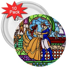 Happily Ever After 1   Beauty And The Beast  3  Button (10 Pack) by storybeth
