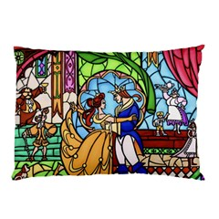 Happily Ever After 1   Beauty And The Beast Pillow Case (two Sides) by storybeth