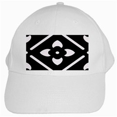 Black And White Pattern Background White Cap by Nexatart