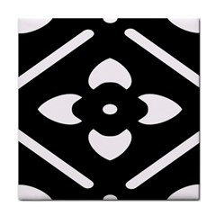Black And White Pattern Background Tile Coasters by Nexatart