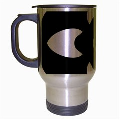 Black And White Pattern Background Travel Mug (silver Gray) by Nexatart