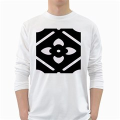Black And White Pattern Background White Long Sleeve T Shirts