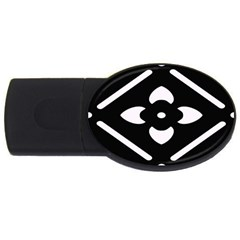 Black And White Pattern Background Usb Flash Drive Oval (4 Gb)