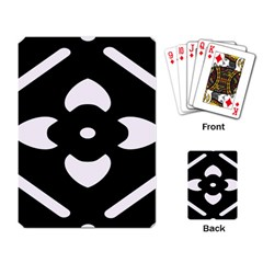 Black And White Pattern Background Playing Card