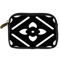 Black And White Pattern Background Digital Camera Cases