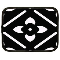 Black And White Pattern Background Netbook Case (xl)