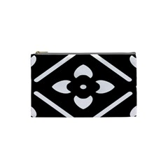 Black And White Pattern Background Cosmetic Bag (small)  by Nexatart