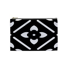 Black And White Pattern Background Cosmetic Bag (medium)