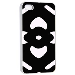 Black And White Pattern Background Apple Iphone 4/4s Seamless Case (white)