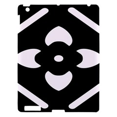 Black And White Pattern Background Apple Ipad 3/4 Hardshell Case