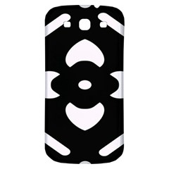 Black And White Pattern Background Samsung Galaxy S3 S Iii Classic Hardshell Back Case by Nexatart