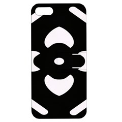 Black And White Pattern Background Apple Iphone 5 Hardshell Case With Stand