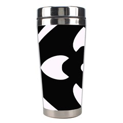 Black And White Pattern Background Stainless Steel Travel Tumblers by Nexatart