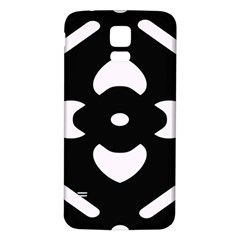 Black And White Pattern Background Samsung Galaxy S5 Back Case (white)