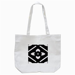 Black And White Pattern Background Tote Bag (white) by Nexatart