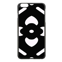 Black And White Pattern Background Apple Iphone 6 Plus/6s Plus Black Enamel Case