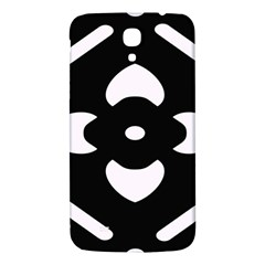 Black And White Pattern Background Samsung Galaxy Mega I9200 Hardshell Back Case