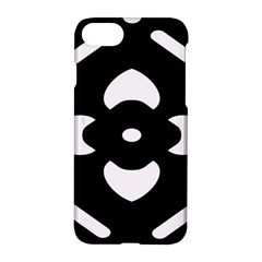 Black And White Pattern Background Apple Iphone 7 Hardshell Case by Nexatart