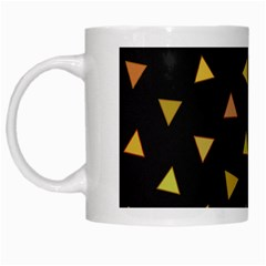 Shapes Abstract Triangles Pattern White Mugs by Nexatart