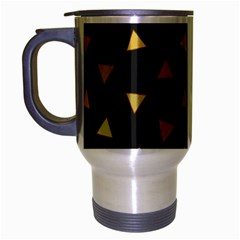 Shapes Abstract Triangles Pattern Travel Mug (silver Gray)