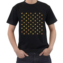 Shapes Abstract Triangles Pattern Men s T Shirt (black)