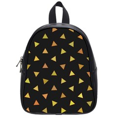 Shapes Abstract Triangles Pattern School Bags (small)  by Nexatart