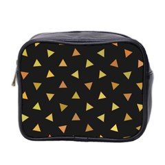 Shapes Abstract Triangles Pattern Mini Toiletries Bag 2 Side by Nexatart