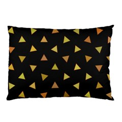 Shapes Abstract Triangles Pattern Pillow Case (two Sides) by Nexatart