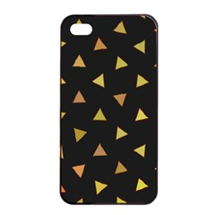 Shapes Abstract Triangles Pattern Apple Iphone 4/4s Seamless Case (black)