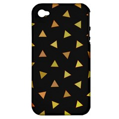Shapes Abstract Triangles Pattern Apple Iphone 4/4s Hardshell Case (pc+silicone)