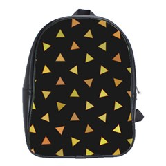 Shapes Abstract Triangles Pattern School Bags (xl)  by Nexatart