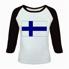 Finnish Flag Kids Baseball Jersey by Finnish