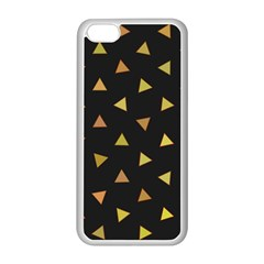 Shapes Abstract Triangles Pattern Apple Iphone 5c Seamless Case (white) by Nexatart