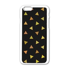 Shapes Abstract Triangles Pattern Apple Iphone 6/6s White Enamel Case by Nexatart