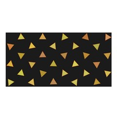 Shapes Abstract Triangles Pattern Satin Shawl